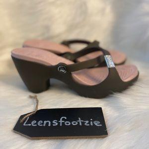 Crocs Cypress Tan Wedge Heel Sandal